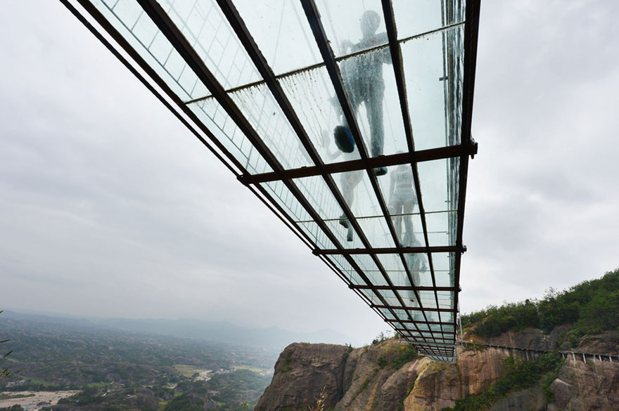 longest highest strongest scariest glass bridge in the world in china guys world. Black Bedroom Furniture Sets. Home Design Ideas