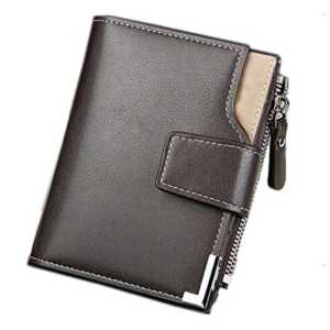 Taslar Stylish Leather Wallet Credit Card & Money Holder For Men - Brown