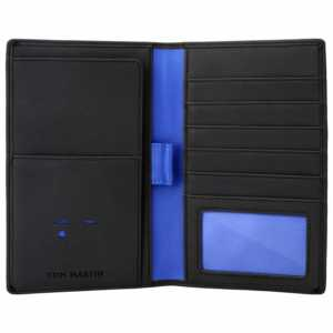 Tom Martin TM01 RFID Protected Vegan Leather Passport Credit Debit Card HolderWallet for Men