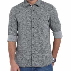 Classic Polo Grey Printed Shirt for Men