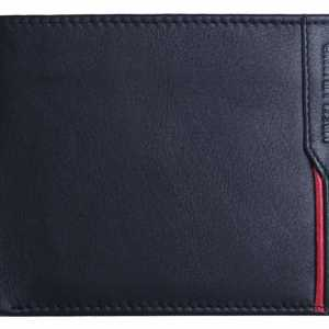 Massi Miliano Genuine Leather RFID Blocking Men's Wallet (VER03) - Black